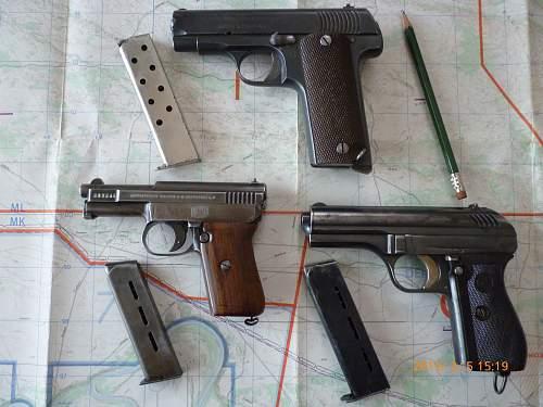 Click image for larger version.  Name:EU Model 16 Astra (Ruby) 7.65mm, Mauser M1910 6.35mm, CZ vz24 9mm Short (2).jpg Views:2030 Size:217.3 KB ID:625419