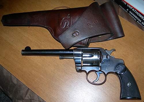 Colt New Service Revolver in .455 cal