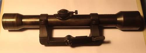 Carl Ziess marked Zielvier telescopic sight for K98