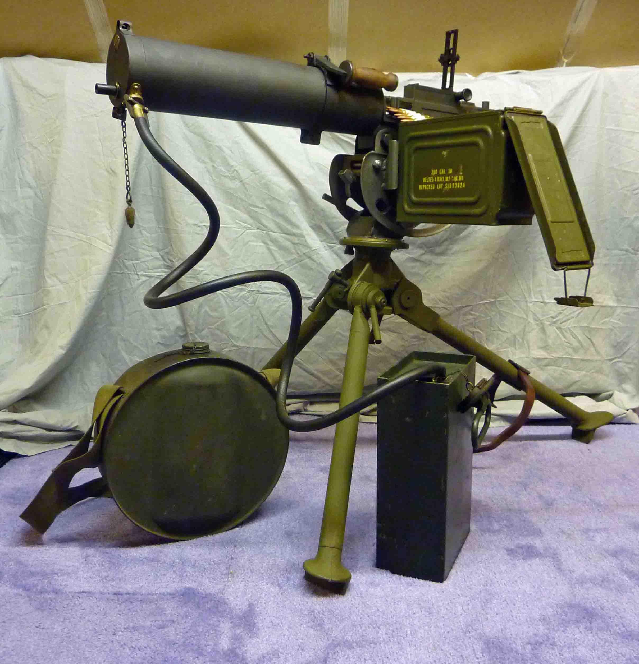 browning water cooled machine gun