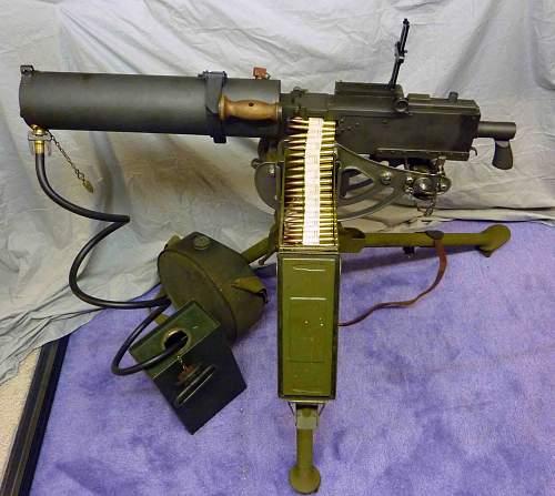 M1917A1 water cooled Browning machine gun
