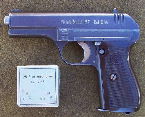 CZ 27 and Military issue 7.65mm Ammo