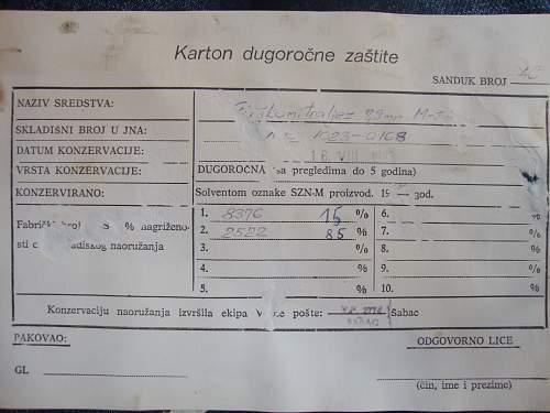 Yugoslavian translation of 7.9mm M34 transit case