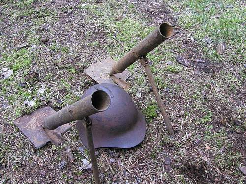 Soviet scarse mortar-entrenching tool 37 mm-recovered