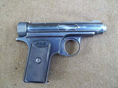 Sauer model 1913 imperial german proofed
