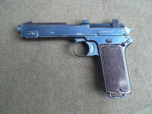 Steyr-hahn baverian contract pistols