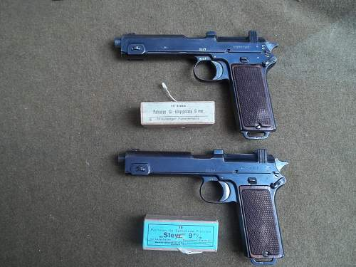 Steyr-hahn baverian contract pistols