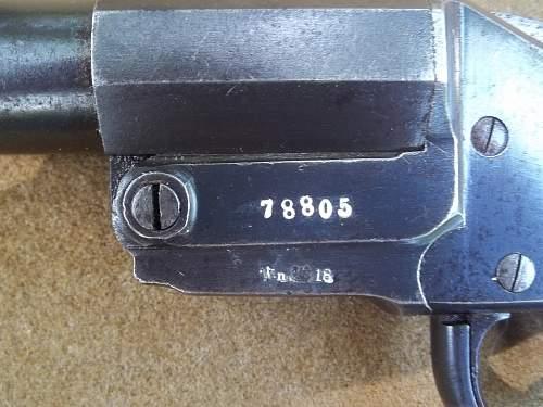 HEBEL Signal Pistol WWI German With Austrian Proof