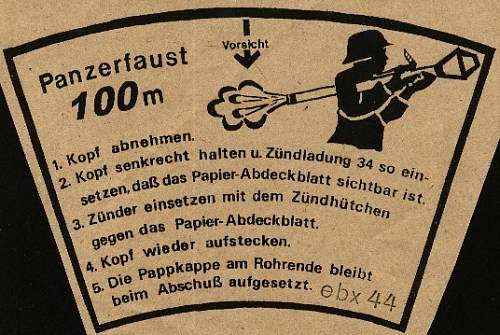 Click image for larger version.  Name:Panserfaust 100m Label.jpg Views:803 Size:107.8 KB ID:711845