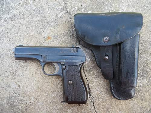 CZ Modell 27 7,65mm Pistol and holster from Jersey, Channel Islands.