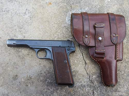 FN pistol and holster from Jersey, Channel Islands.