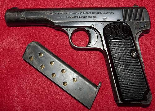 Interesting Browning (FN) 1922 Vet Bring-Back 7.65mm Pistol