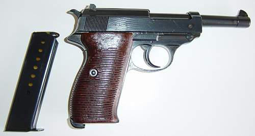 Click image for larger version.  Name:Walther P38 and clip..JPG Views:2251 Size:145.9 KB ID:7410