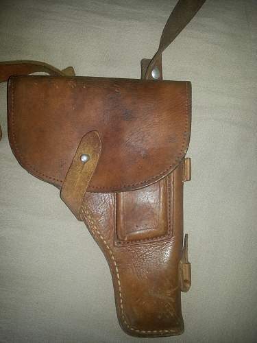 Chinese Pistol holster and extra 2 mag holders.