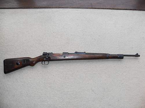 ss stamped k98 rifle