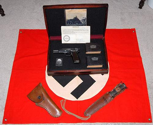 Browning (FN) Hi Power w/Papers and Other Items from Gusen Camps!