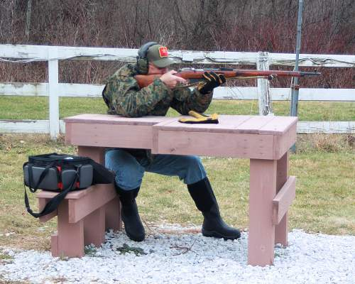 On the range with a Mosin Nagant M91/30