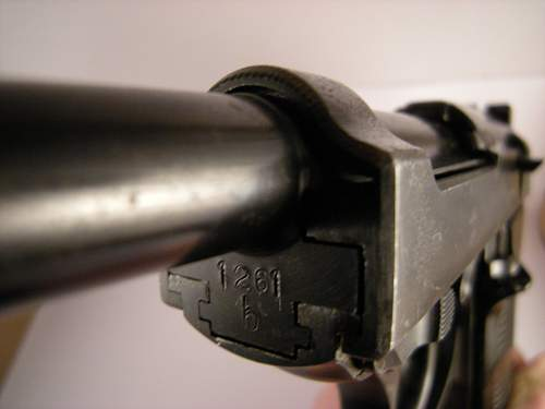 Click image for larger version.  Name:Walther P38 ac42 matching numbers 1261 b (2).jpg Views:57 Size:341.1 KB ID:786471