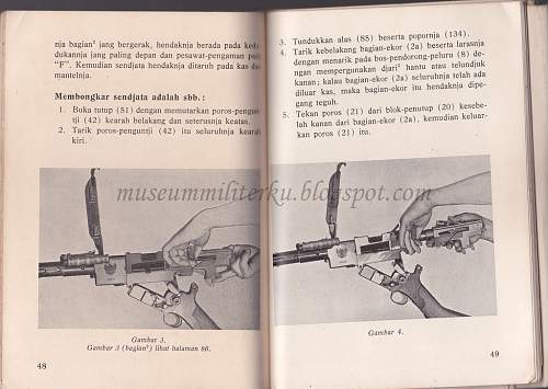 Indonesian Madsen LMG M51 Instruction Book