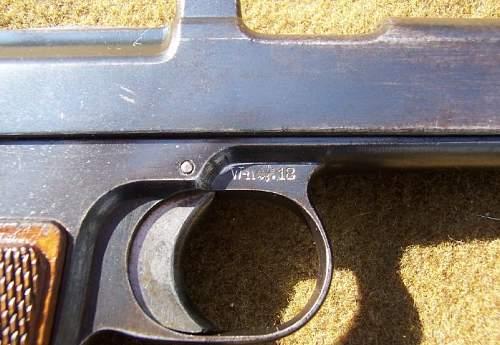 1918 Bavarian Contract Steyr Hahn Pistol