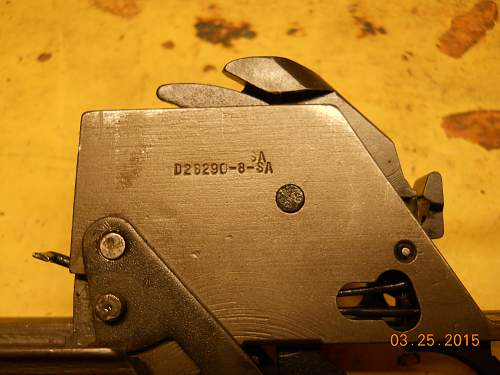 M1 GARAND trigger group marked double SA