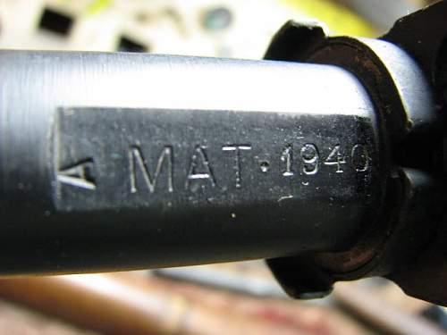 French Mas-36, 1940 matching.