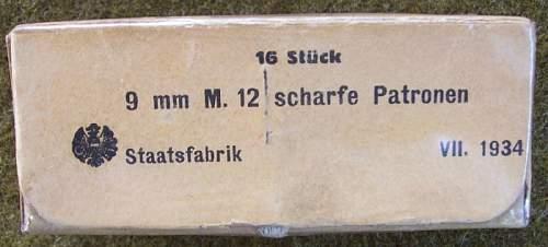 1915 Steyr Hahn Pistol  refirbished in 1935
