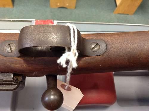 Two 1898 Krag-Jorgensen rifles. Bubbed....