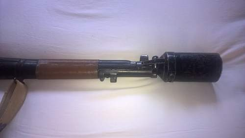 my new enfield with mills bomb launcher