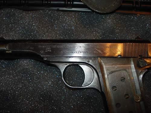 FN Browning 1922 pistol made under German occupation
