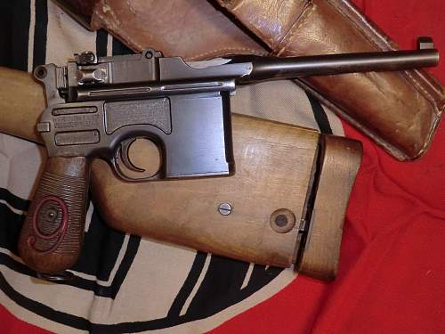Red 9 Broomhandle Mauser