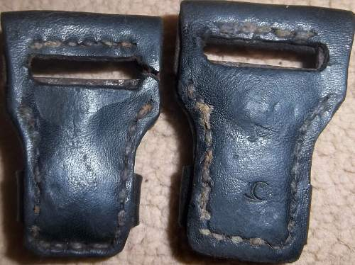 Some very old Mauser K98k sling keepers, one marked BK in a circle? Mauser 98k Sling Experts?