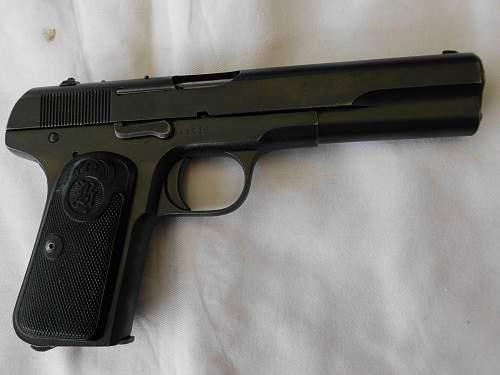 Husqvarna M1907 Pistol in 9mm Long Browning