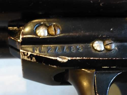 Luftwaffe Krieghoff double barrel live Flare pistol