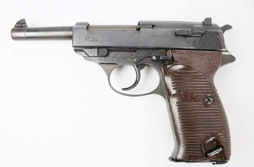 Walther P38 pistol.