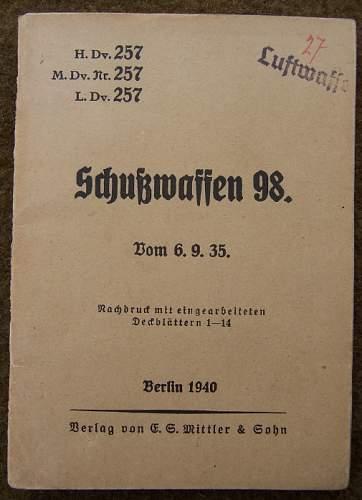 Luftwaffe 98k 'Luftamt' Marked