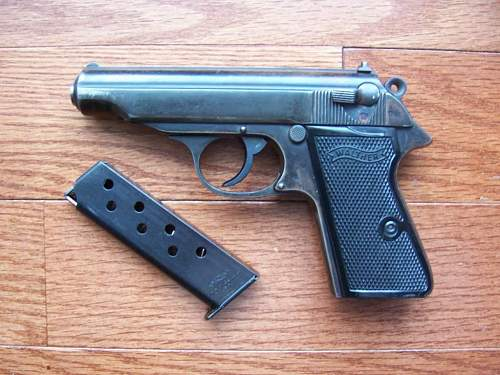 Walther pp wffen marked pistol and sa holster..