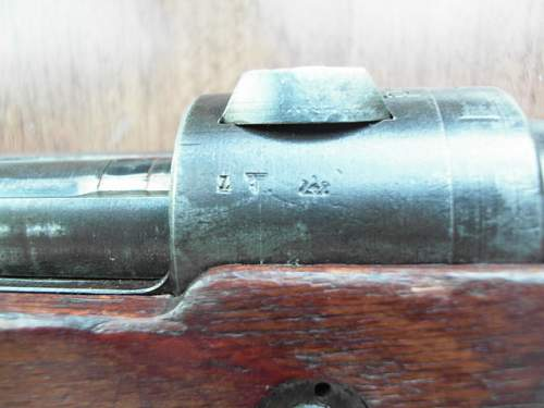 Waffen SS double-claw mount 98k sniping rifle