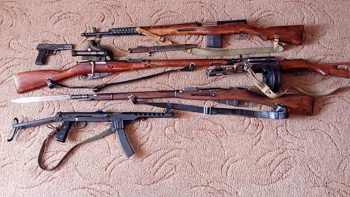Soviet Infantry weapons collection