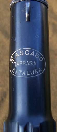 Spanish Civil War F. Ascaso copy of Astra 400