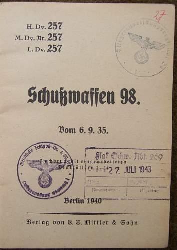 98k Manual Luftwaffe issued