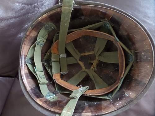 Interesting M1 camo helmet Dutch made ? marked to a Royal marine