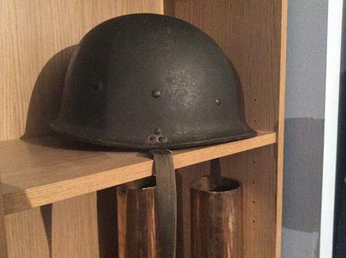Antique shop find - iraq m/80 helmet