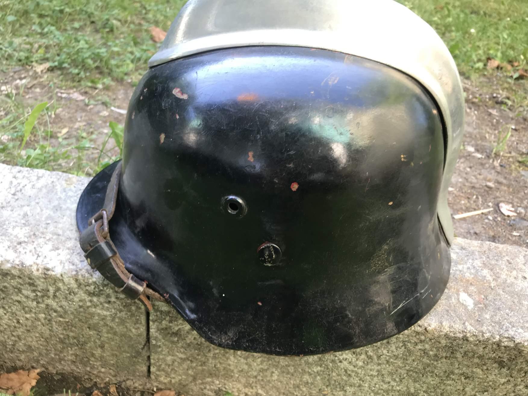Need help! Original hungarian 35M helmet refurbished by the german