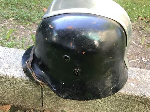 Original hungarian 35M helmet refurbished by the german Firedepartment?