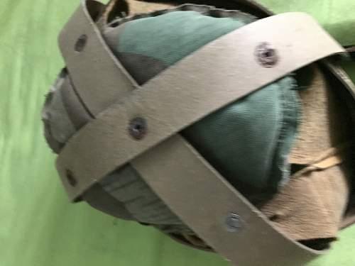 Original hungarian 35M helmet refurbished by the german Firedepartment?