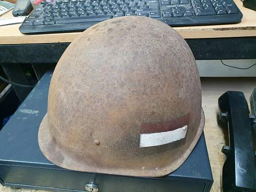 Ssh40  helmet shell with painted badges