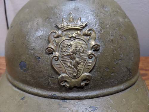 Unique French/Belgian M15 Helmet with British Liner and Unusual Badge! Identification Help!!