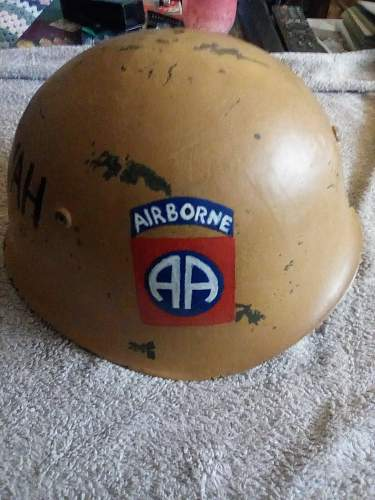 Iraqi/ bulgarian trophy helmet