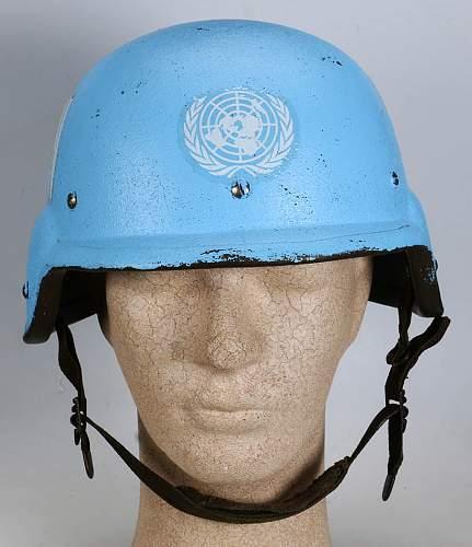 UN kevlar helmet